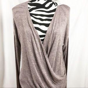 *NWT* Abercrombie Deep Surplice Slub Knit Sweater